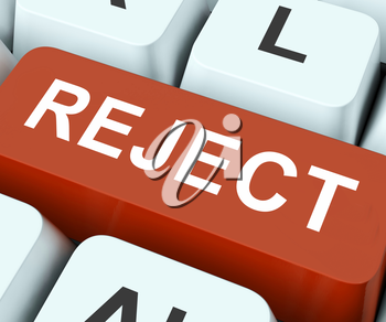 Reject Key On Keyboard Meaning Decline Disapprove Or Deny