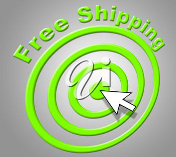 Free Shipping Representing For Nothing And Gratis