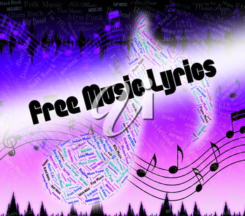 Free Music Lyrics Representing No Charge And Track