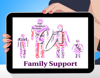 Family Support Meaning Blood Relative And Text