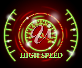 High Speed Showing Gauge Fast And Quickly