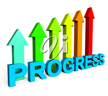 Progress Improving Showing Financial Report And Develop