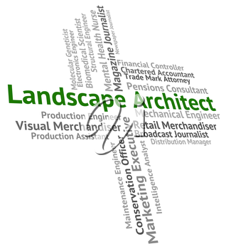 Landscape Architect Representing Building Consultant And Panorama