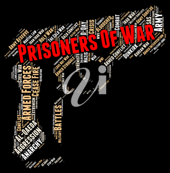 Prisoners Of War Showing Military Action And Conflicts