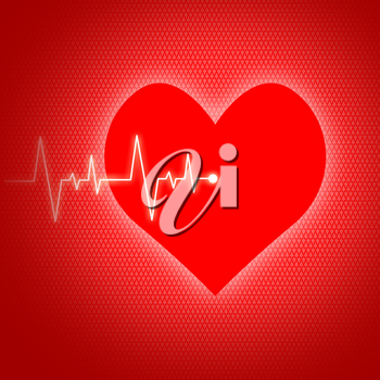 Heart Pulse Showing Preventive Medicine And Wellbeing