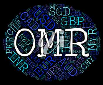 Omr Currency Representing Oman Rials And Omani