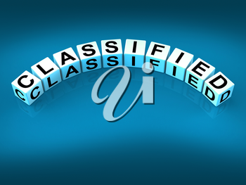 Classified Dice Showing Top Secret Confidential And Restricted Access