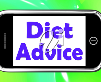 Diet Advice On Phone Showing Weightloss Knowledge