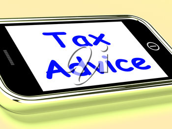 Tax Advice On Phone Showing Taxation Help Online