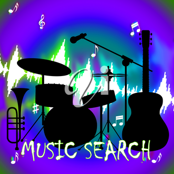 Music Search Meaning Sound Track And Examination
