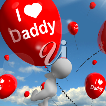 I Love Daddy Balloons Showing Affectionate Feelings for Father
