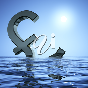 Pound Sinking In The Sea Showing Depression Recession And Economic Downturns