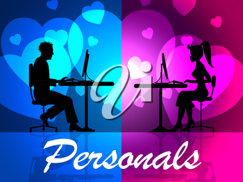 Personals Online Indicating Web Site And Advertisement