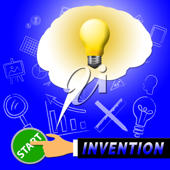 Invention Light Meaning Invents And Innovating 3d Illustration