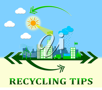 Recycling Tips Town Meaning Recycle Advice 3d Illustration