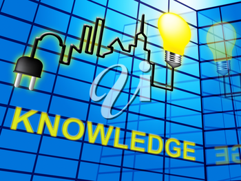 Knowledge Lightbulb Shows Know How And Wisdom 3d Illustration