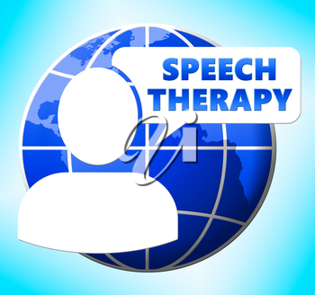 Speech Therapy Icon Means Rehabilitation 3d Illustration