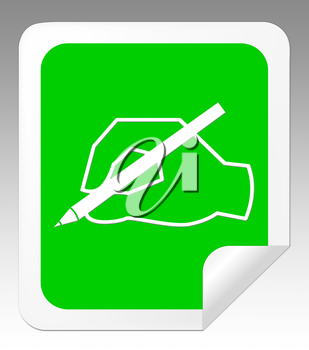 Writing Message Hand Means Communication Note 3d Illustration