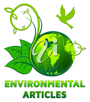 Environmental Articles Showing Eco Publication 3d Illustration