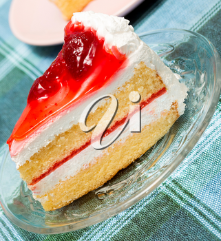 Strawberry Cream Cake Showing Gateaux Delightful And Desserts