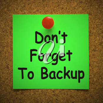 Back up data concept icon shows the importance of a backup plan. A standby for business data with archives for restoration - 3d illustration