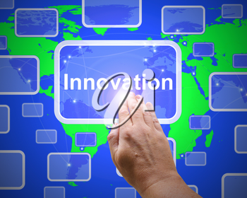 Innovation concept icon means creation using revolutionary ideas. improvement and creativity in a product - 3d illustration
