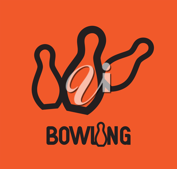 Bowling Logo Design Concept. AI 10 supported.