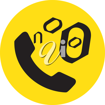 Phone Icon for No. EPS 8 supported.