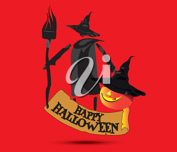 Happy Halloween Concept Design and Witch