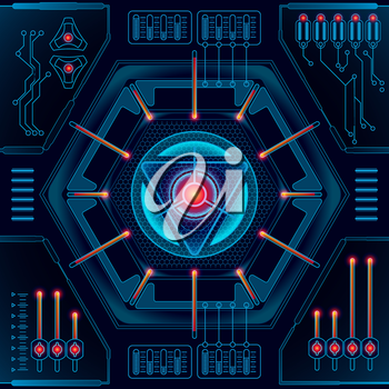 Abstract future technology concept background. Vector illustration EPS 10