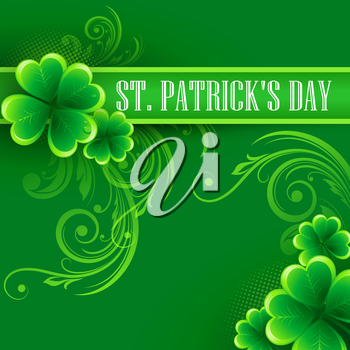 St. Patricks Day Background. Vector illustration EPS 10