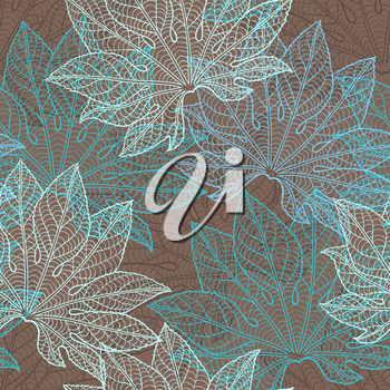 Vector seamless pattern of leaves.