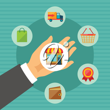 Internet shopping concept abstract illustration