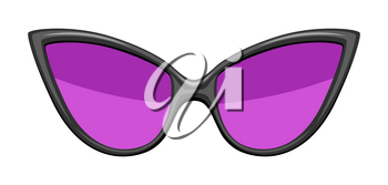 Illustration of stylish sunglasses. Colorful bright abstract fashionable accessory.