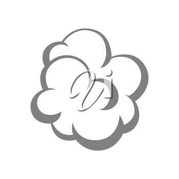 Illustration of pillow filler. Icon, emblem or label for products.