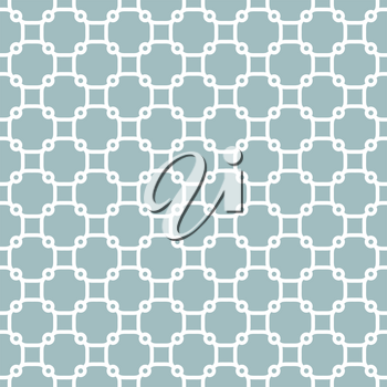 Seamless vector ornament in arabian style. Geometric abstract background. Light blue and white pattern for wallpapers and backgrounds