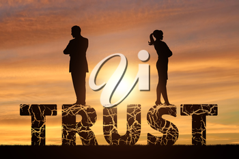 Distrust and betrayal in the family. Wife and husband are on a cracked word of trust