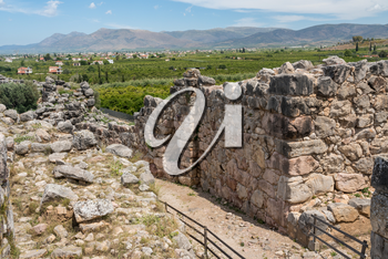 Massive boulders form the walls of the fortress and palace of Tiryns in Greece