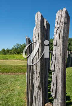 Stockade of Fort Necessity, a National Park Service location, in Pennsylvania