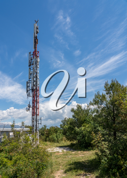 Remote rural mobile phone cell tower and antennae providing data connectivity