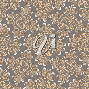 Abstract floral seamless pattern. Geometric floral ornament texture. Oriental flower ethnic background.