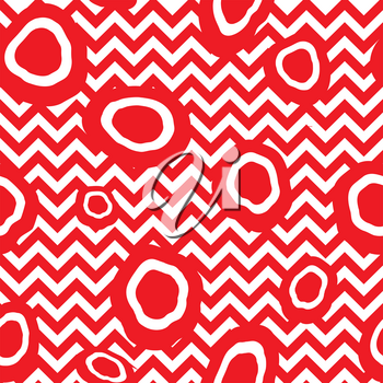 Abstact seamless pattern. Zig-zag line and dot texture. Diagonal line black and white dotted ornament.