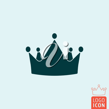 Crown icon. Crown logo. Crown symbol. King crown icon isolated, minimal design. Vector illustration