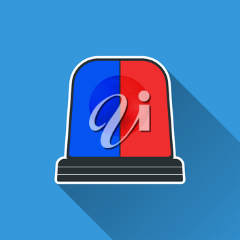 Flasher light icon. Special flasher of emergency, police, fire, ambulance department. Vector illustration