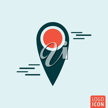 Map pin icon. Location mark symbol. Vector illustration