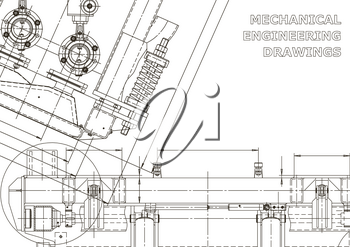 Mechanical instrument making. Technical illustration. Vector engineering drawings. Technical abstract backgrounds. Blueprint