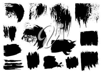 Vector drawing paints. Strips, grunge prints. Design elements for your creativity. Handmade. Original textures, hand draw