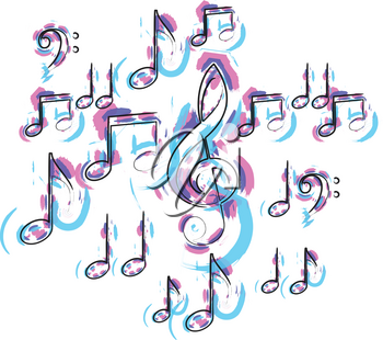 Abstract music note illustration