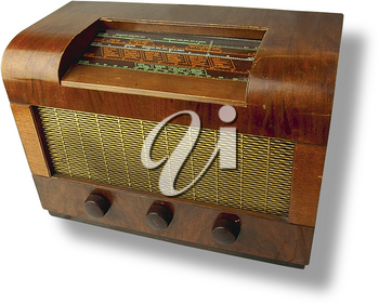 Royalty Free Photo of an Antique Radio