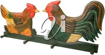Royalty Free Photo of Chicken and Rooster Art